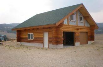 Log Garage Loft Anderson Cabin Fever Home Building
