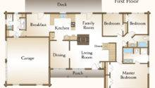 Log Home Floor Plan Bedroom Ranch