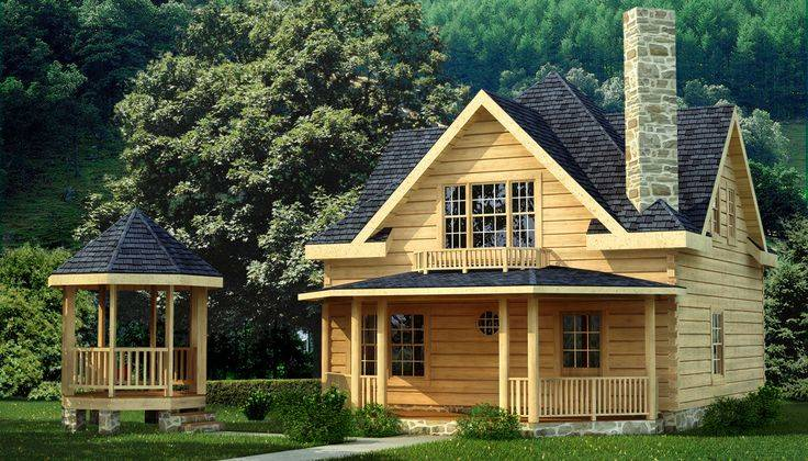 Log homes character small salem home cabin plans home for Small home plans with character