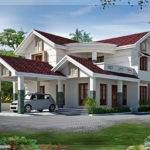 Looking Bedroom Villa Design Kerala Home Floor Plans