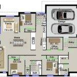 Lot Bedroom House Plan Home Cinema Room Narrow Designs