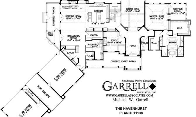 Love Port Cochere Between Garages Havenhurst House Plan