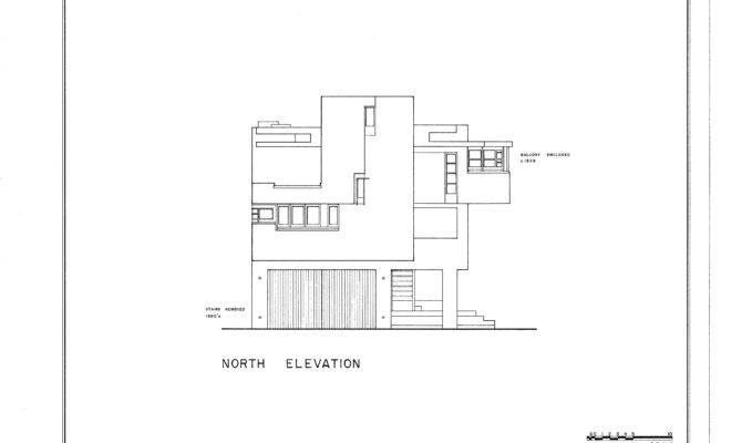 Lovell Beach House Drawing Wikimedia Commons