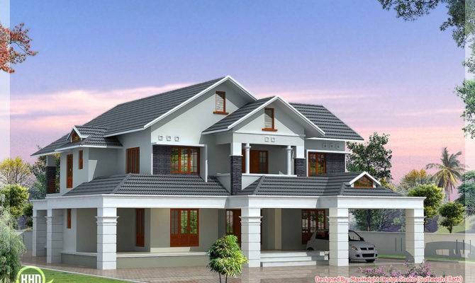 Luxury Bedroom Villa Kerala House Design Idea
