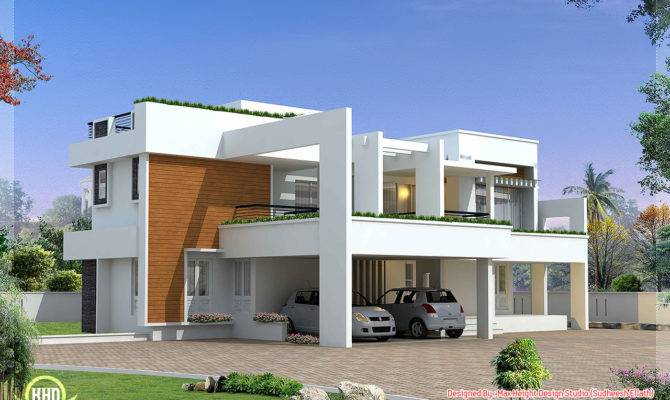 Luxury Contemporary Villa Design Kerala Home Floor Plans