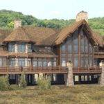 Luxury Home Designs Log Plans Natural Stone Chimney