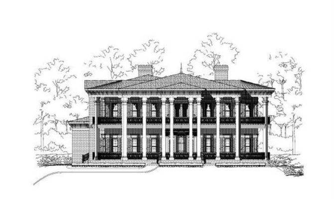 Luxury House Plans Colonial Home Design Ohp
