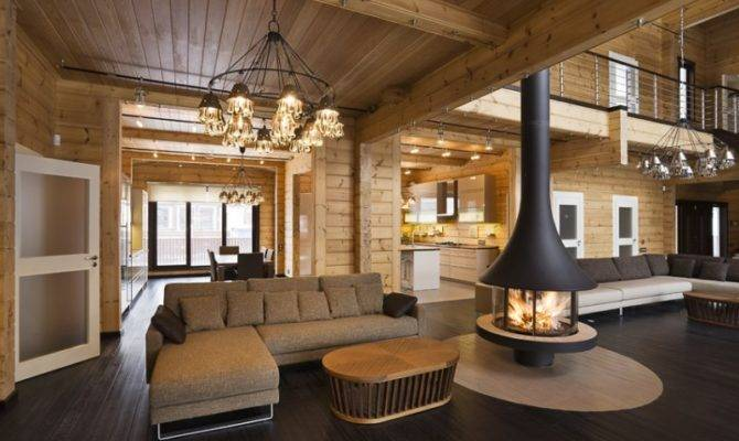 Luxury Log Home Interior Quality Wooden House Finland