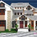 Luxury Sloping Roof House Exterior Kerala Home Design Floor