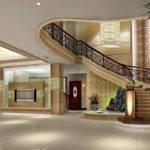 Luxury Villa Stairwell Design Rendering Interior