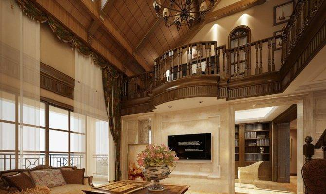 Luxury Villas Wood Ceiling Design House