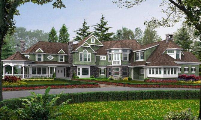 Lydelle Luxury Craftsman Home Massive Style Mansion