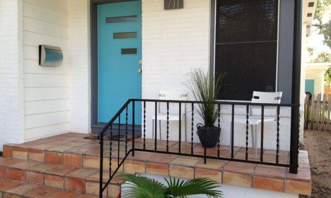 Mad Mid Century Our Atomic Ranch Front Porch Through Years