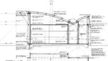 Magney House Bingie Cross Section Drawing