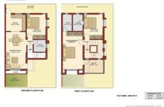 Map Twin Bungalow Floor Plan Flats Row Housing