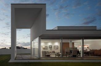 Marked Minimalist Boxy Shapes Aradas House Home Building