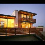 Marvelous Contemporary House Exterior Modern Balcony Design Also