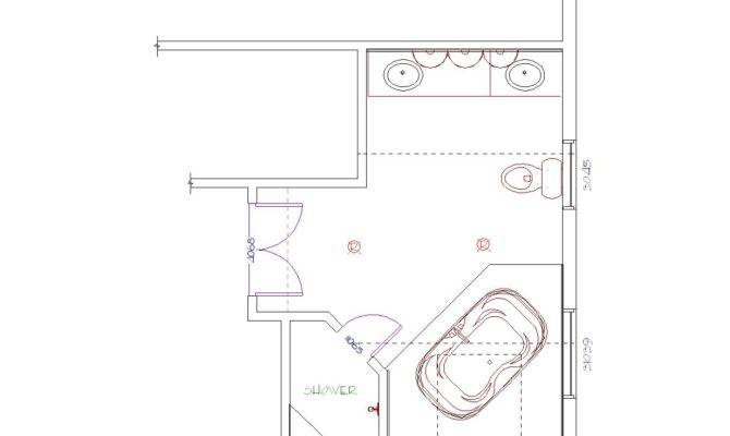 Master Bathrooms Floor Plans Bathroom Shower