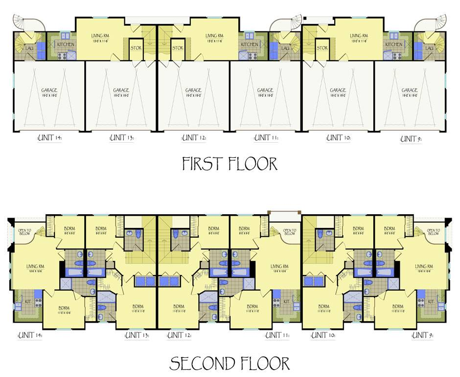 multi unit house plans numberedtype
