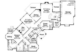 Mediterranean House Plan Braxton Floor