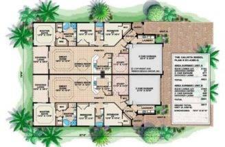 Mediterranean House Plans Home Design Calista