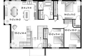 Mid Century Modern House Plans Print Floor Plan