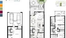 Middle Unit Floor Plan New Quintet Ambleside Townhomes