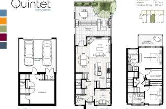 Middle Unit Floor Plan New Quintet Ambleside Townhomes