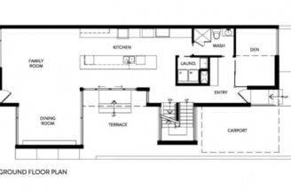 Minimalist Zen Like Barn Ground Floor Plan House Design