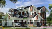 Mix House Dormer Windows Kerala Home Design Floor Plans