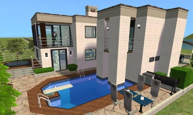 Mod Sims Modern Set Villa