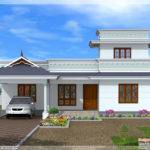 Model One Floor House Kerala Home Design Plans