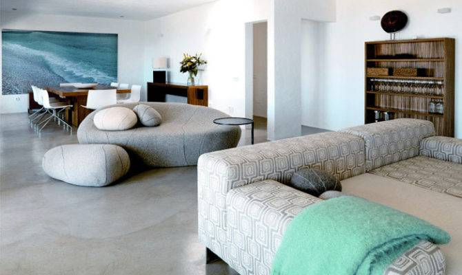 Modern Deserted Beach House Interior