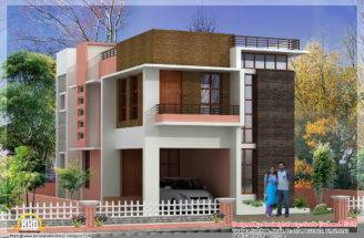 Modern Home Elevation Plan Kerala Design