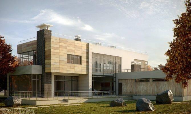 Modern House Visualising Landscaped Gardens