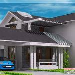 Modern Mix Sloping Roof Home Design Indian Decor