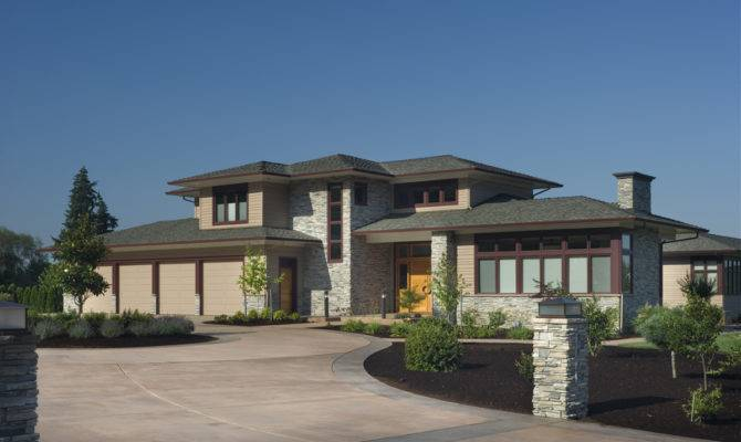 Contemporary Prairie Style Home Plans