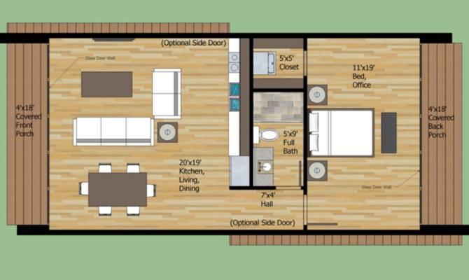 Modern Style House Plan Beds Baths Floor