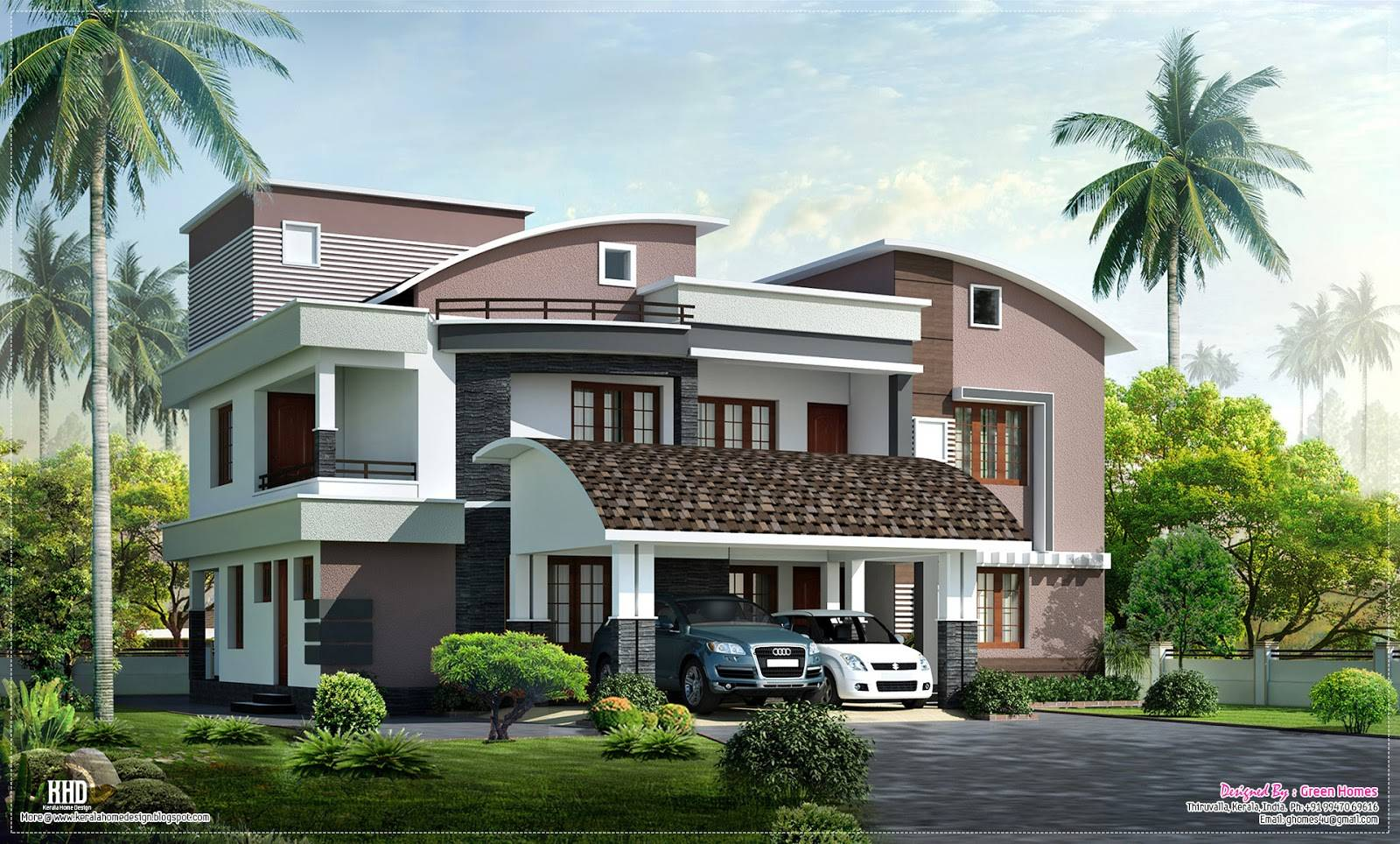 modern style luxury villa exterior design house plans home building