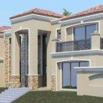 Modern Tuscan Style Bedroom House Plan Double Storey Floor Plans
