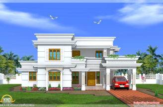 Modern Two Story Bedroom House Kerala Home Design