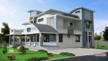 Modern Unique Style Villa Design Kerala Home Floor Plans