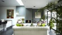 Modern Victorian Home Living Space White Sofa Cushion Olpos Design