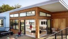 Modern Wooden House Design Open Space Plan Terrace