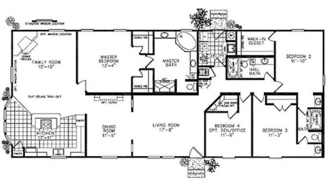 Modular Homes Classic Ranch Home Floor Plan