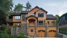 Mountain Home Plans Walkout Basement Rustic House