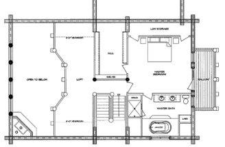 Mountaineer Log Home Floor Plan Main Second