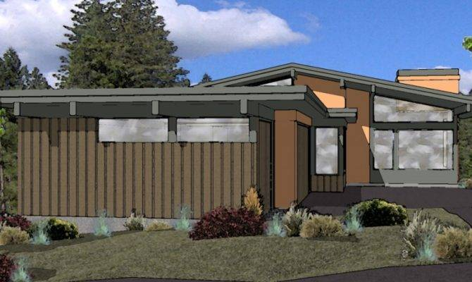 Muddy River Design Mid Century Modern House Plan Bend Oregon