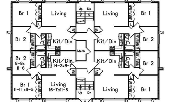 Multi House Plan First Floor Plans