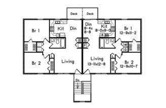 Multi House Plan Second Floor Plans